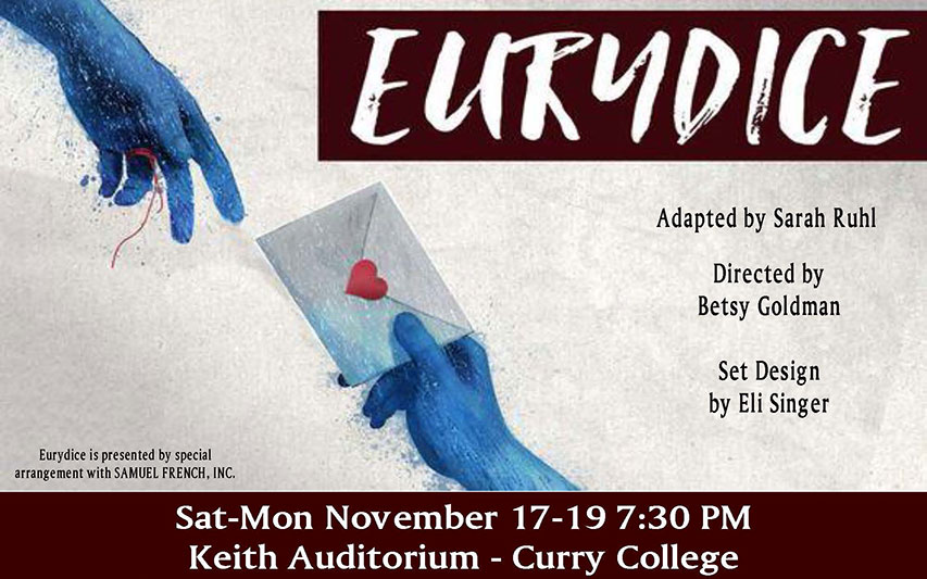 Eurydice poster for Curry College Theatre Fall 2018 Blackbox performance