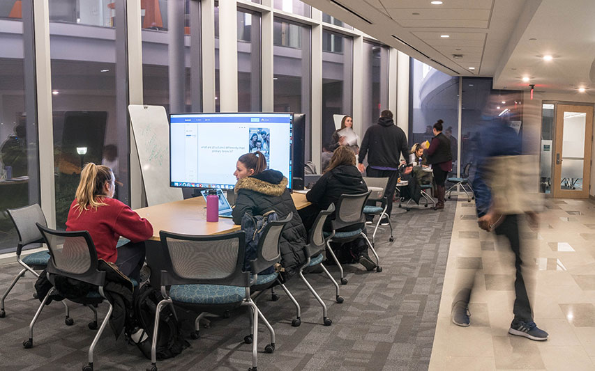 The new Curry College Learning Commons