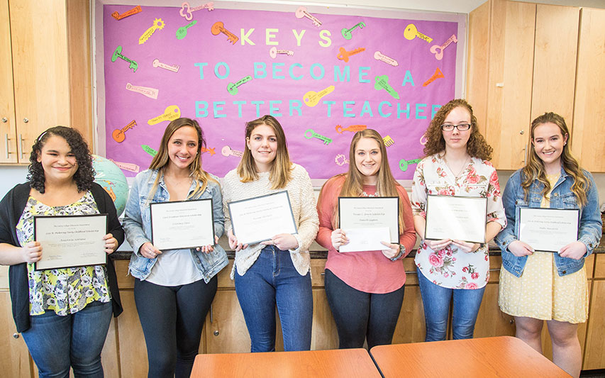 Curry College 2019 Education Scholarship receipients