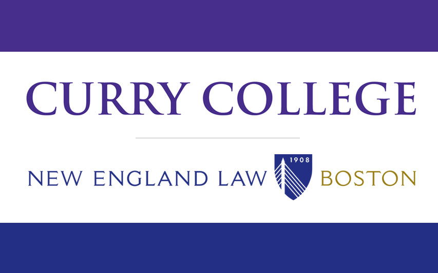 Curry College and New England Law Boston logos