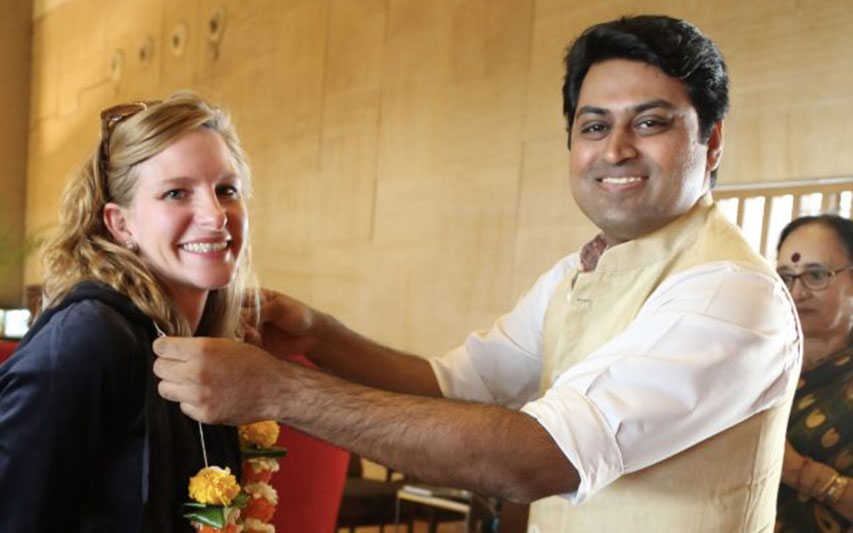PAL Director Dr. Laura Vanderberg receives warm welcome in Mumbai.