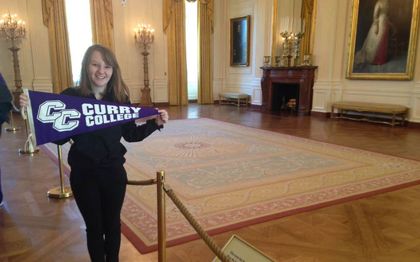 Chloe Corrion, Class of 2017, inside the White House.