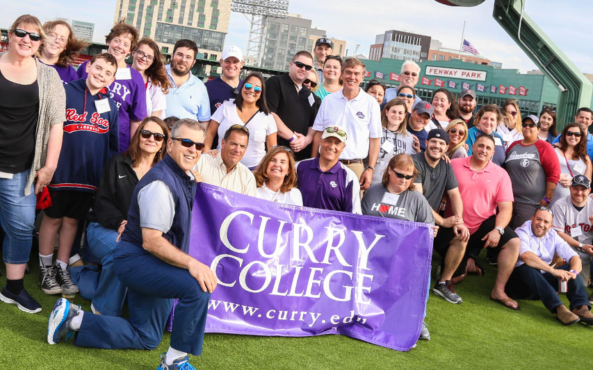 Curry College Alumni at Fenway Park