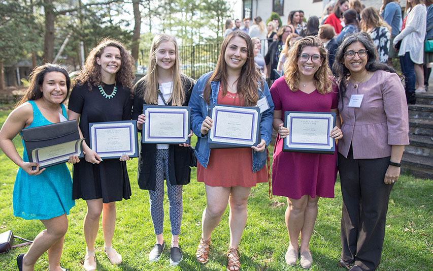 Curry College students and their mentors at Dean's List Honor Reception.