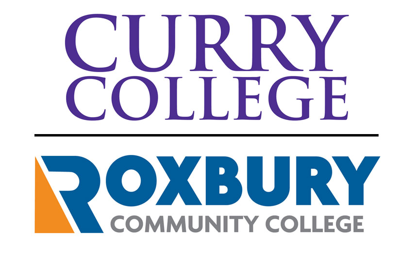 Curry College and Roxbury Community College logo