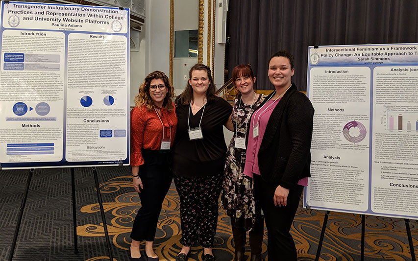 Sociology Students, Faculty, and Recent Alumna Present Research at Industry Conference