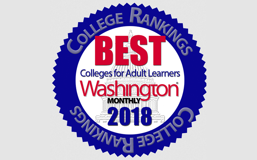 Washington Monthly Best College for Adult Learners logo