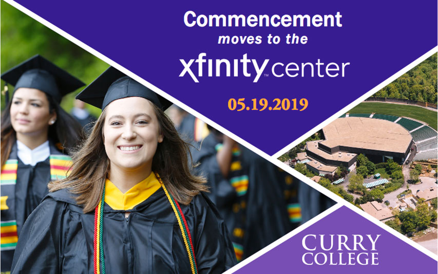 Curry College Commencement moves to the Xfinity Center