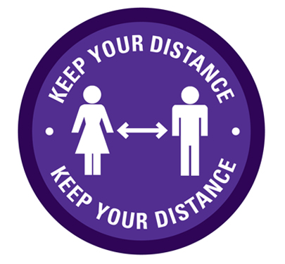 Keep Your Distance Sticker