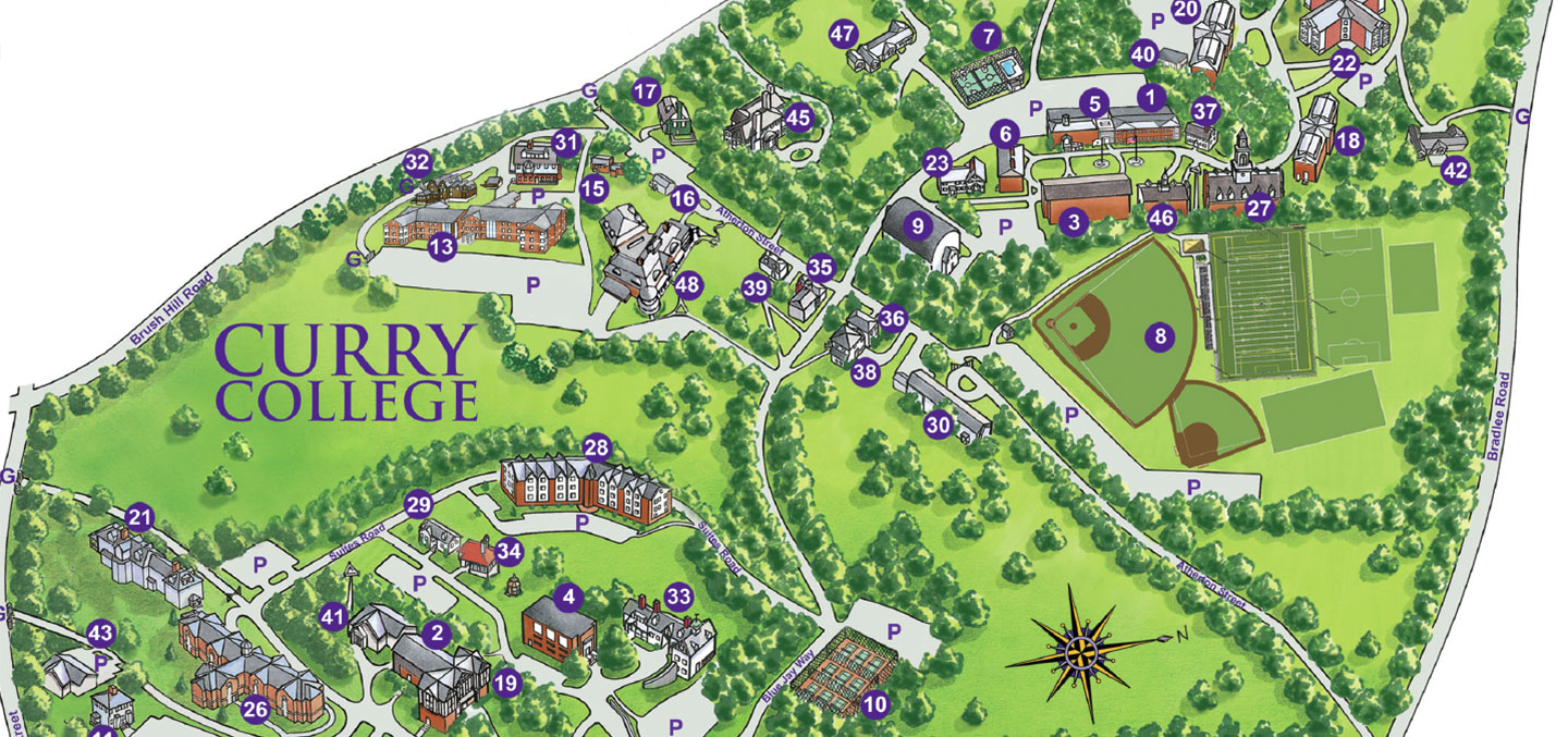 Campus Map Curry College