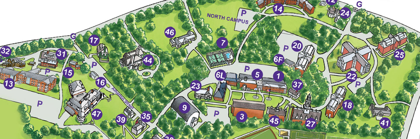 Curry College Campus Map