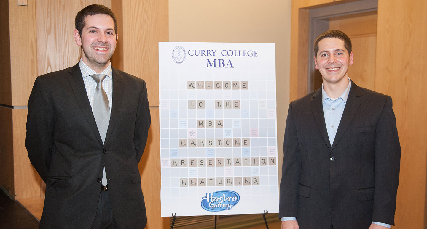 Curry College MBA students present their Capstone project, consulting for Hasbro