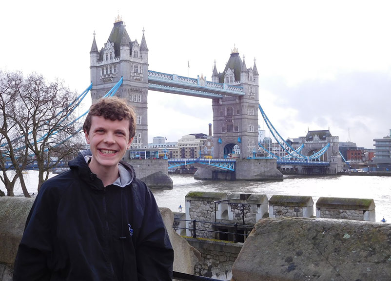Matt Crone '18, Curry College student in London