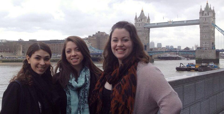 Curry College students study abroad in London