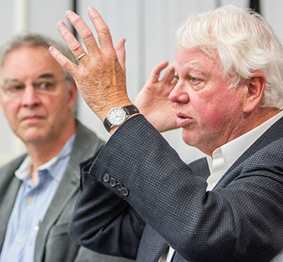 Curry routinely features talks by the best in Boston area sports journalism, such as Bill Littlefield of NPR and Bob Ryan of The Boston Globe.