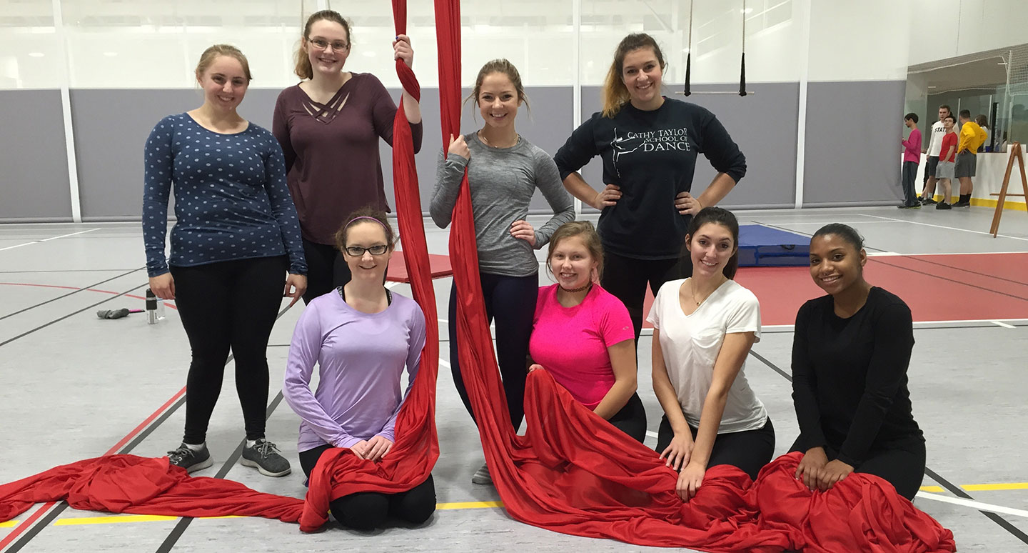 Students and faculty regularly attend Aerial Dance master classes in Boston.