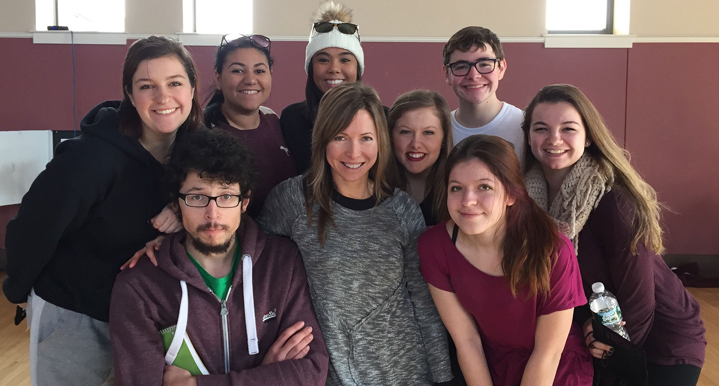 Dance program students and faculty joined 350 dancers from New England colleges at the American College Dance Association (ACDA) conference at Springfield College.