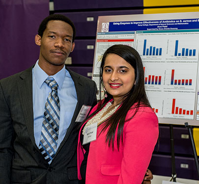 Curry College students present their Undergraduate Scientific Research at the Academic Forum