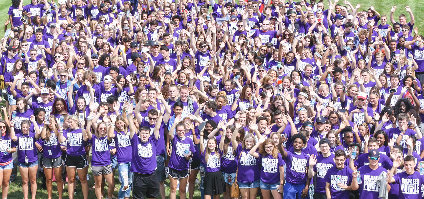 The Curry College Class of 2022 representing Accepted Students