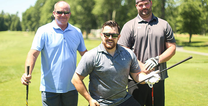 Curry College Alumni attend a Colonels golf outing