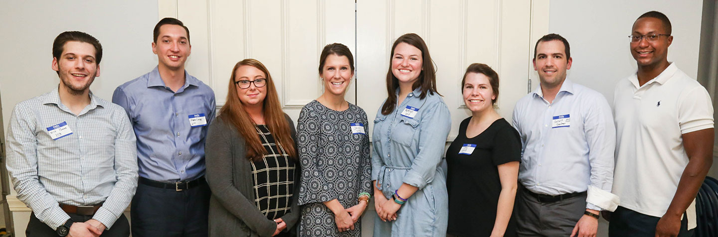 Curry College Alumni Volunteers are represented by a recent alumni panel event