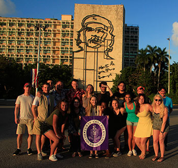 Grant Burrier and Students in Cuba