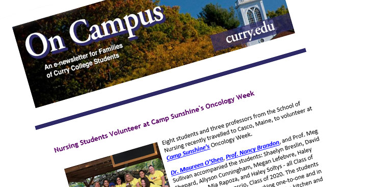 The Curry College Parent E-Newsletter, On Campus