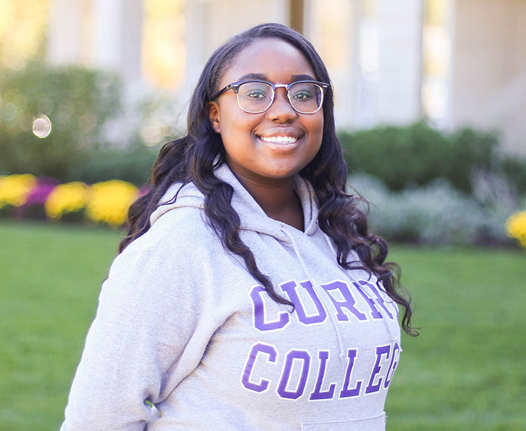 Cotdell Tuning, student pursuing a Biology Degree at Curry College