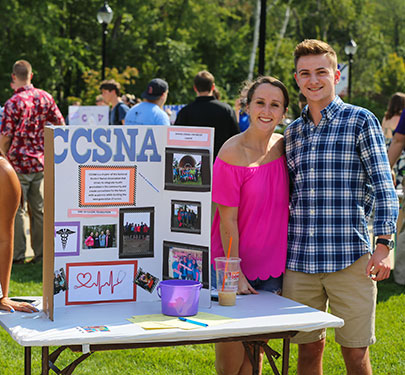CCSNA members at the Student Involvement Fair