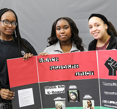 Members of the Black Student Union at the Involvement Fair