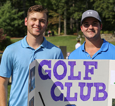 Members of the Golf Club at the Student Involvement Fair