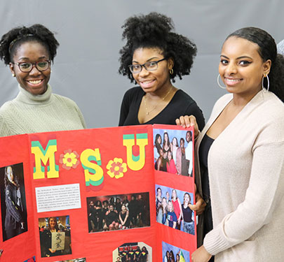 Multicultural Student Union members at the Involvement Fair
