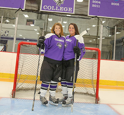 Women's Ice Hockey members at Ulin Rink