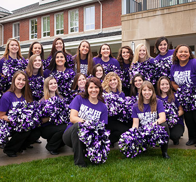 Dance Team members pose for a group photo