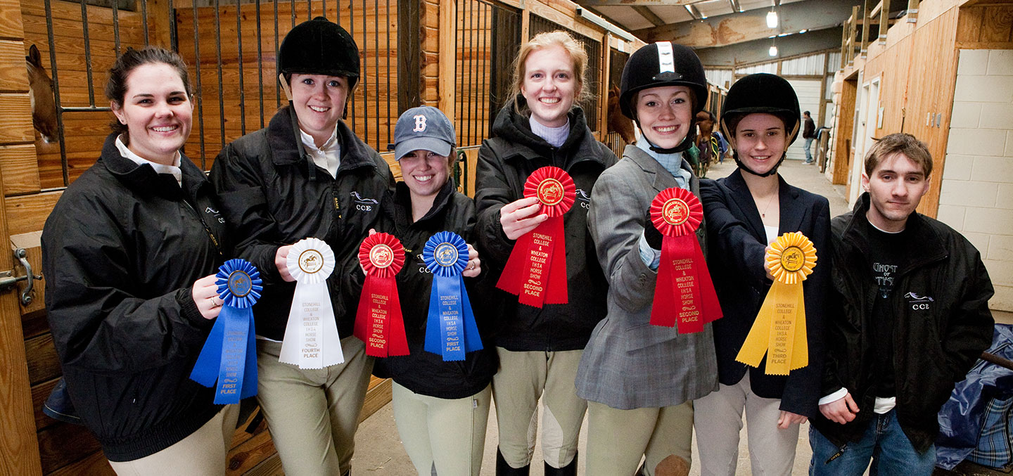 Equestrian Club members show off their ribbons