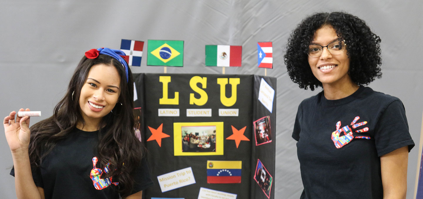 Latino Student Union members pose for a photo