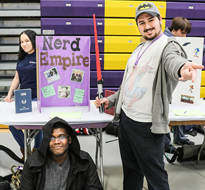 Nerd Empire Club members at the Student Involvement Fair