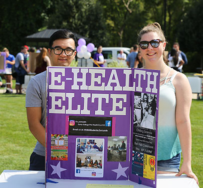 Pre-Health E.L.I.T.E. members at the Student Involvement Fair