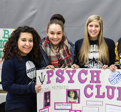 Psychology Club members at the Student Involvement Fair