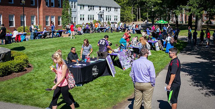 Curry students attend the Involvement Fair on campus